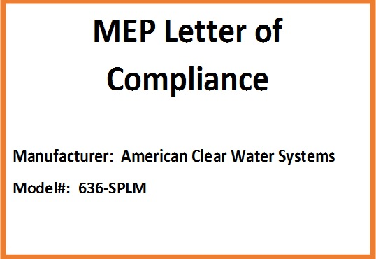 American Clear Water Systems - 636-SPLM